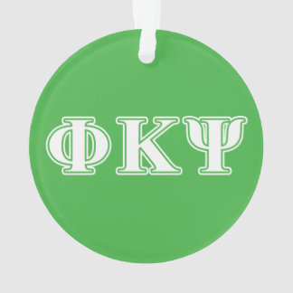 Phi Kappa Psi White and Green Letters
