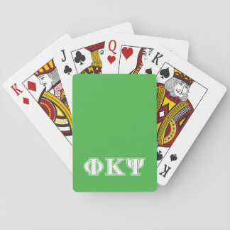 Phi Kappa Psi White and Green Letters Card Deck