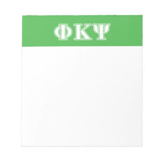 Phi Kappa Psi White and Green Letters Memo Note Pad