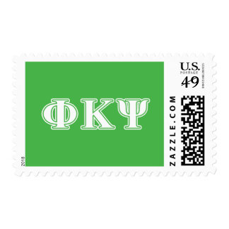 Phi Kappa Psi White and Green Letters Postage