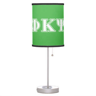 Phi Kappa Psi White and Green Letters Table Lamp