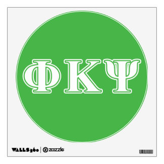 Phi Kappa Psi White and Green Letters Wall Decals
