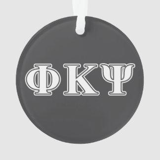 Phi Kappa Psi White Letters