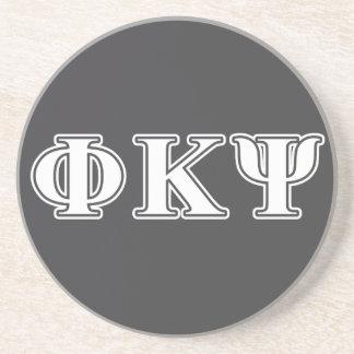 Phi Kappa Psi White Letters Beverage Coasters