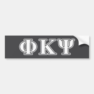 Phi Kappa Psi White Letters Car Bumper Sticker