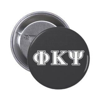 Phi Kappa Psi White Letters Button