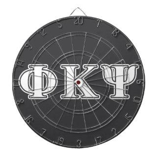 Phi Kappa Psi White Letters Dartboard