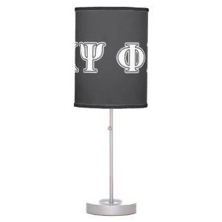 Phi Kappa Psi White Letters Desk Lamp