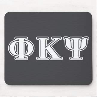Phi Kappa Psi White Letters Mouse Pads