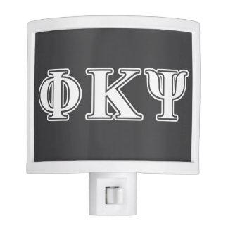 Phi Kappa Psi White Letters Night Light