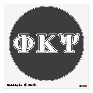 Phi Kappa Psi White Letters Wall Graphics