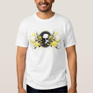 Phi Kappa Sigma 1850 Skull Stars Painted Graphic T Tee Shirt