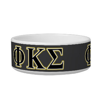 Phi Kappa Sigma Black and Gold Letters Bowl