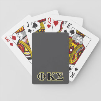 Phi Kappa Sigma Black and Gold Letters Card Deck
