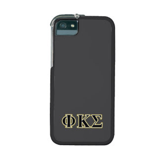 Phi Kappa Sigma Black and Gold Letters iPhone 5 Case