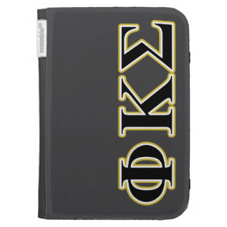 Phi Kappa Sigma Black and Gold Letters Kindle 3 Case