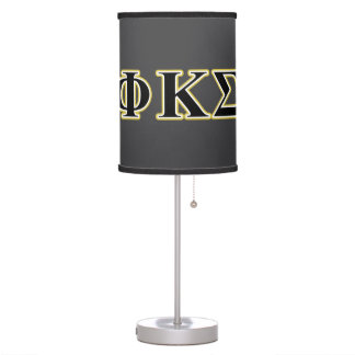 Phi Kappa Sigma Black and Gold Letters Desk Lamp