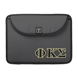 Phi Kappa Sigma Black and Gold Letters MacBook Pro Sleeve