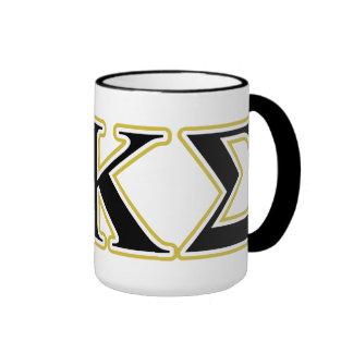 Phi Kappa Sigma Black and Gold Letters Ringer Mug