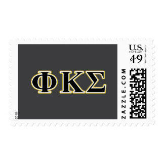 Phi Kappa Sigma Black and Gold Letters Stamps