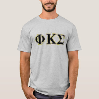 Phi Kappa Sigma Black and Gold Letters T-Shirt