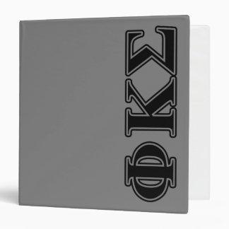 Phi Kappa Sigma Black Letters 2 3 Ring Binder