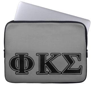 Phi Kappa Sigma Black Letters 2 Computer Sleeve