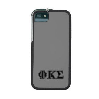Phi Kappa Sigma Black Letters 2 Cover For iPhone 5