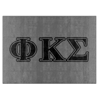 Phi Kappa Sigma Black Letters 2 Cutting Boards