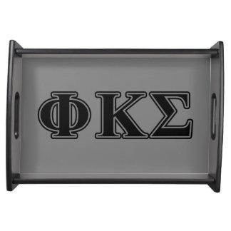 Phi Kappa Sigma Black Letters 2 Food Trays