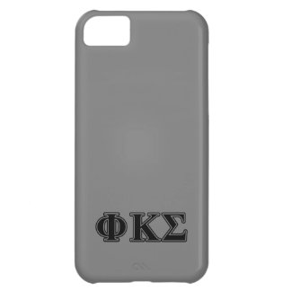 Phi Kappa Sigma Black Letters 2 iPhone 5C Cover