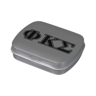 Phi Kappa Sigma Black Letters 2 Jelly Belly Tins
