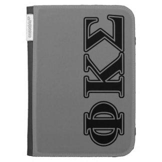 Phi Kappa Sigma Black Letters 2 Kindle Case