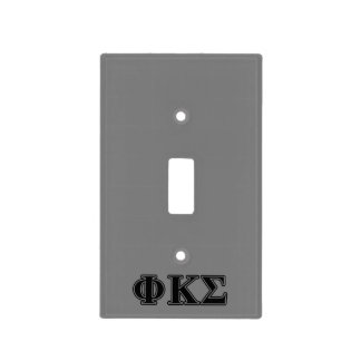 Phi Kappa Sigma Black Letters 2 Light Switch Plates