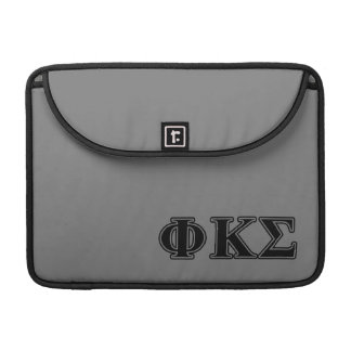 Phi Kappa Sigma Black Letters 2 Sleeve For MacBook Pro