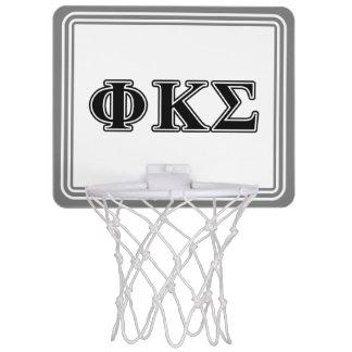 Phi Kappa Sigma Black Letters 2 Mini Basketball Backboard