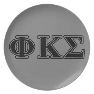 Phi Kappa Sigma Black Letters 2 Plates