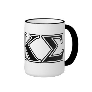 Phi Kappa Sigma Black Letters 2 Ringer Mug