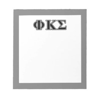 Phi Kappa Sigma Black Letters 2 Scratch Pads