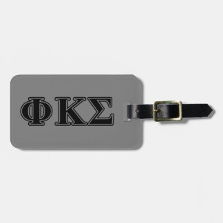 Phi Kappa Sigma Black Letters 2 Tags For Bags