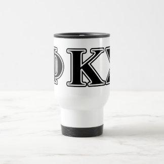 Phi Kappa Sigma Black Letters 2 Travel Mug