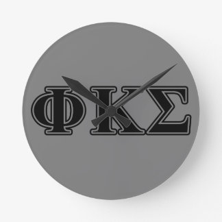 Phi Kappa Sigma Black Letters 2 Wallclocks