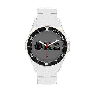 Phi Kappa Sigma Black Letters 2 Wristwatch