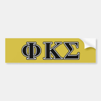 Phi Kappa Sigma Black Letters Car Bumper Sticker