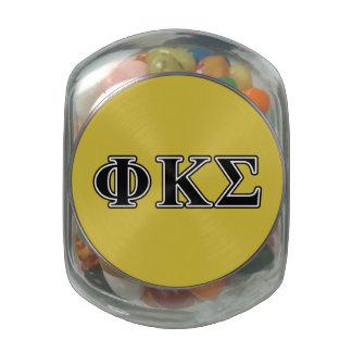 Phi Kappa Sigma Black Letters Jelly Belly Candy Jar