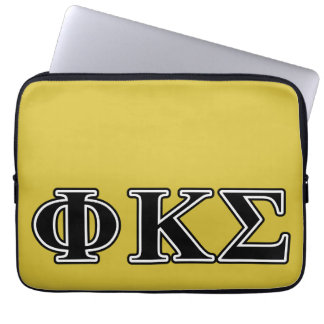 Phi Kappa Sigma Black Letters Computer Sleeve