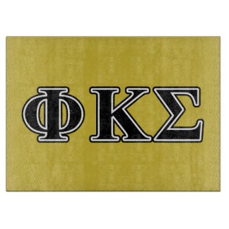 Phi Kappa Sigma Black Letters Cutting Board