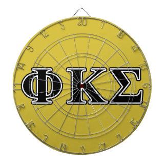 Phi Kappa Sigma Black Letters Dart Board