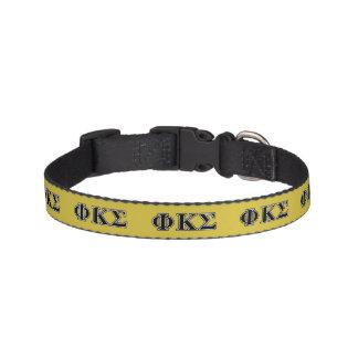 Phi Kappa Sigma Black Letters Dog Collars