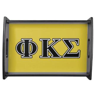 Phi Kappa Sigma Black Letters Food Trays